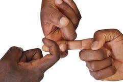 Solidarity gesture of hands Stock Photo
