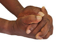 Solidarity gesture of hands. Solidarity is the social bond of reciprocal commitment and dependence between persons thus held to the welfare of others, usually Royalty Free Stock Photos