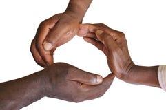 Solidarity gesture of hands Royalty Free Stock Image