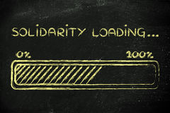 Solidarity loading, progess bar illustration Stock Photos
