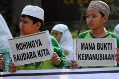Solidarity for rohingnya Stock Photo