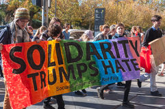 Solidarity Trumps Hate Stock Images