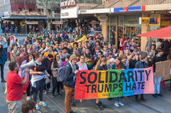 Solidarity Trumps Hate Stock Photo