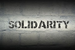 Solidarity WORD GR Stock Photography