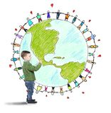 Solidarity world of a child Stock Photography