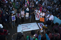 Solidarity for YY A Victim of Raping by 14 Boys in Indonesia Royalty Free Stock Photography
