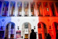 Solidarność z Francja zdjęcia stock