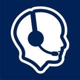 Solide Ikone im menschlichen Kopf stock abbildung