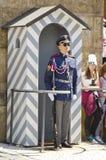 Solider fora do castelo de Praga, República Checa fotografia de stock royalty free