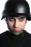 Solider with red eyes... Stock Photography