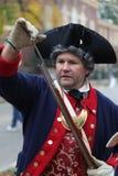 Solider revolucionário do século XVIII da guerra Imagens de Stock Royalty Free