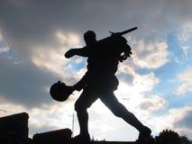Solider statuy silhouet Zdjęcie Royalty Free