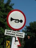 Solides Horn-Zeichen Lizenzfreies Stockfoto