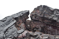 Solidified Hawaii lava Stock Images
