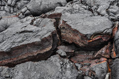 Solidified Hawaii lava. This is solidified lava spotted in Hawaii stock photography