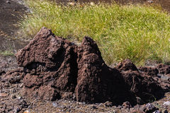 Solidified lava Royalty Free Stock Photo