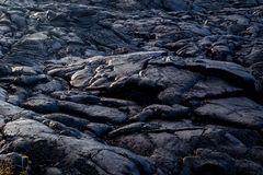 Solidified Lava. In the Hawaii Volcanoes National Park on Big Island, Hawaii, USA royalty free stock photography
