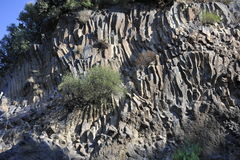Solidified Lava Layers. At the Alcantara Gorges close to the volcano Etna in Sicily, Italy Can be used as background royalty free stock photo
