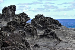 Solidified Lava on Maui, Hawaii. Lava that solidified most likely when the region was under water. Photographed on the north shore of Maui, Hawaii stock images