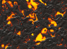 Solidified lava texture of eruption volcano Royalty Free Stock Image