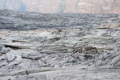 Solified lava from Erta Ale volcano in Danakil depression desert in Ethiopia Stock Photography
