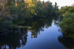 solig dag Flod Arkivbilder