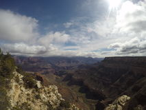 Solig dag Grand Canyon royaltyfri bild