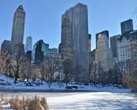Solig dag i Central Park. New York. Arkivbild