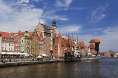 Solig dag i Gdansk Arkivfoto