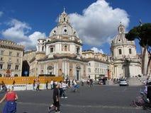 Solig dag i i stadens centrum Rome Arkivfoto