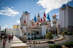 Solig dag i Las Vegas Slott royaltyfria bilder