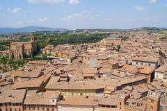 Solig dag i Siena, Italien Royaltyfria Bilder
