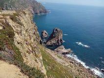 Solig dag på Cabo Da Roca, Sintra, Portugal Royaltyfri Bild