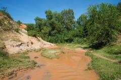Solig dag på The Creek feer Omgivningen av Phan Thiet Royaltyfri Bild