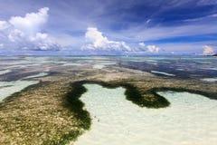 Anse källa D'Argent, LaDigue ö, Seychellerna Royaltyfri Bild