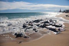 Solig dag på det Balearic havet Royaltyfria Bilder