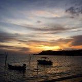 Solig dag på havet Fotografering för Bildbyråer