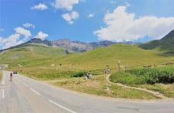 Solig dag på Mont-Cenis arkivfoto