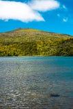 Solig dag på sjön Fotografering för Bildbyråer