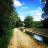 Solig eftermiddag på floden Arkivbild