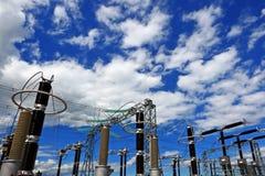 solig elektrisk avdelningskontor för ljus dag arkivbild