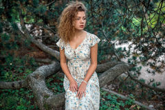 Solig flicka för sommar Royaltyfria Foton