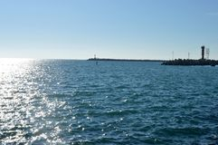 Solig gränd på havet Fotografering för Bildbyråer