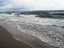 Solig havsstrand Fotografering för Bildbyråer