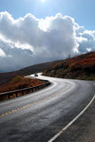solig huvudväg Royaltyfria Foton