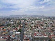 Solig kyrka av Mexico - stad i Central America Arkivbild