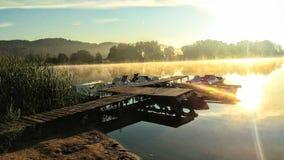 Solig morgon på det tjeckiska paradiset royaltyfria foton