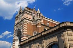 Solig neo-gotisk kyrka av vår dam av Lourdes Rijeka Croatia Arkivbilder
