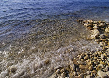Solig sikt av Black Sea, Ukraina Arkivfoto