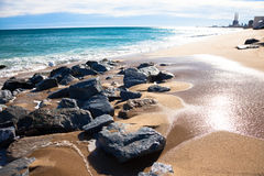 Solig strand Royaltyfria Foton